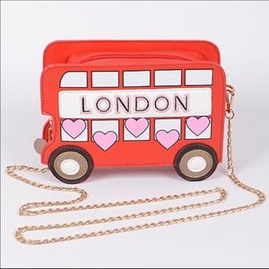 Double Decker London Bus Crossbody Handbag